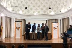 La ganadora de Aragón XXXVIIIª Edición con las Autoridades