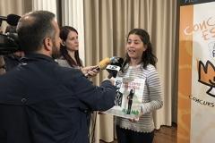 La ganadora de Aragón XXXVIIIª Edición con los medios