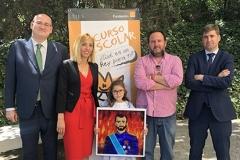 La ganadora de Andalucía XXXVIIIª Edición con las autoridades