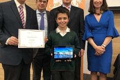El ganador de la XXXVIII Edición, Madrid con las Autoridades