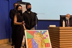 El ganador de Galicia 2021 con su profesora